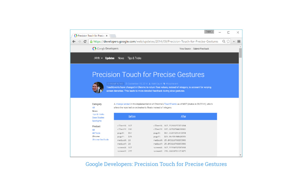 Google Developers: Precision Touch for Precise ...