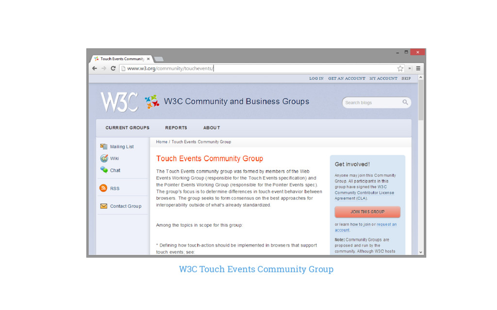 W3C Touch Events Community Group