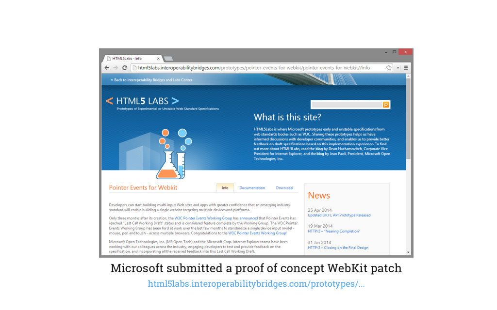 Microsoft submitted a proof of concept WebKit p...