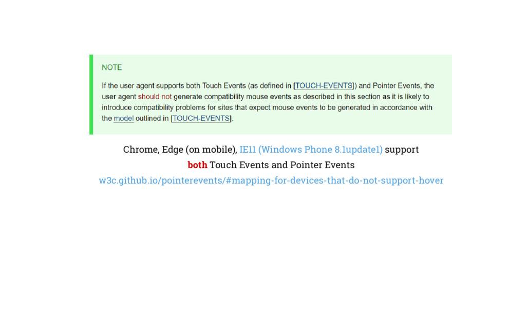 Chrome, Edge (on mobile), IE11 (Windows Phone 8...