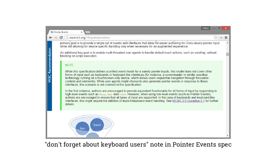 """""""don't forget about keyboard users"""" note in Poi..."""