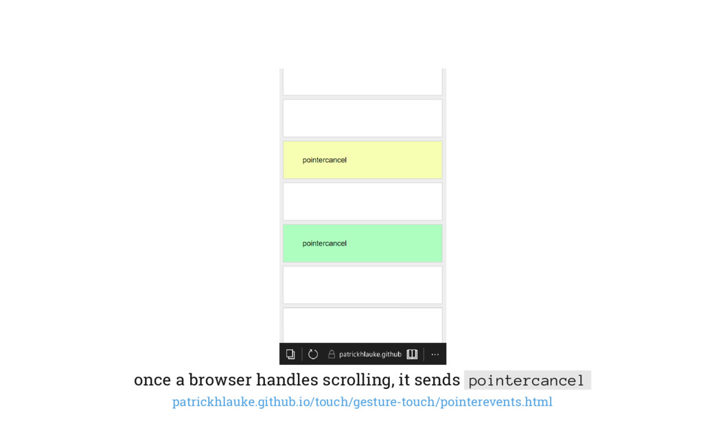 once a browser handles scrolling, it sends poin...