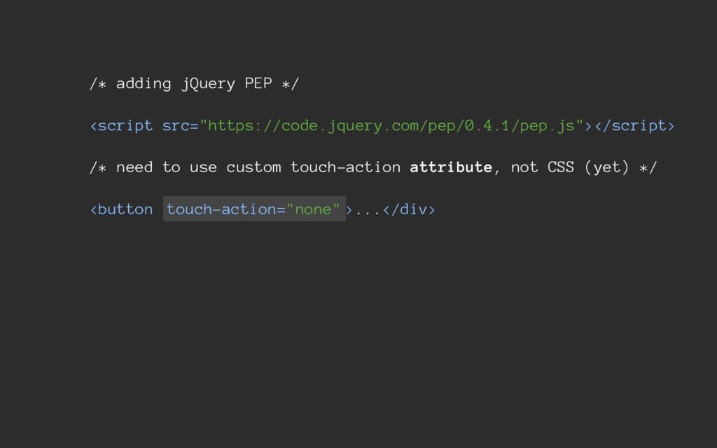 "/* adding jQuery PEP */ <script src=""https://co..."