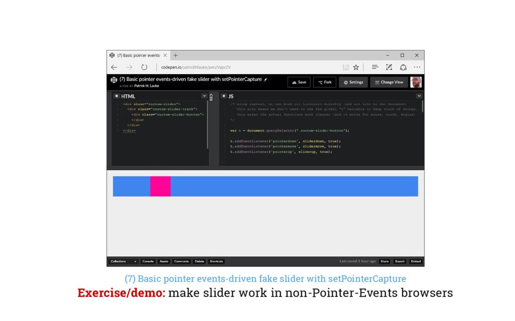 (7) Basic pointer events-driven fake slider wit...