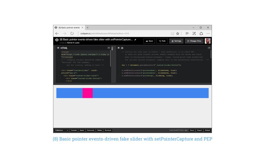 (8) Basic pointer events-driven fake slider wit...