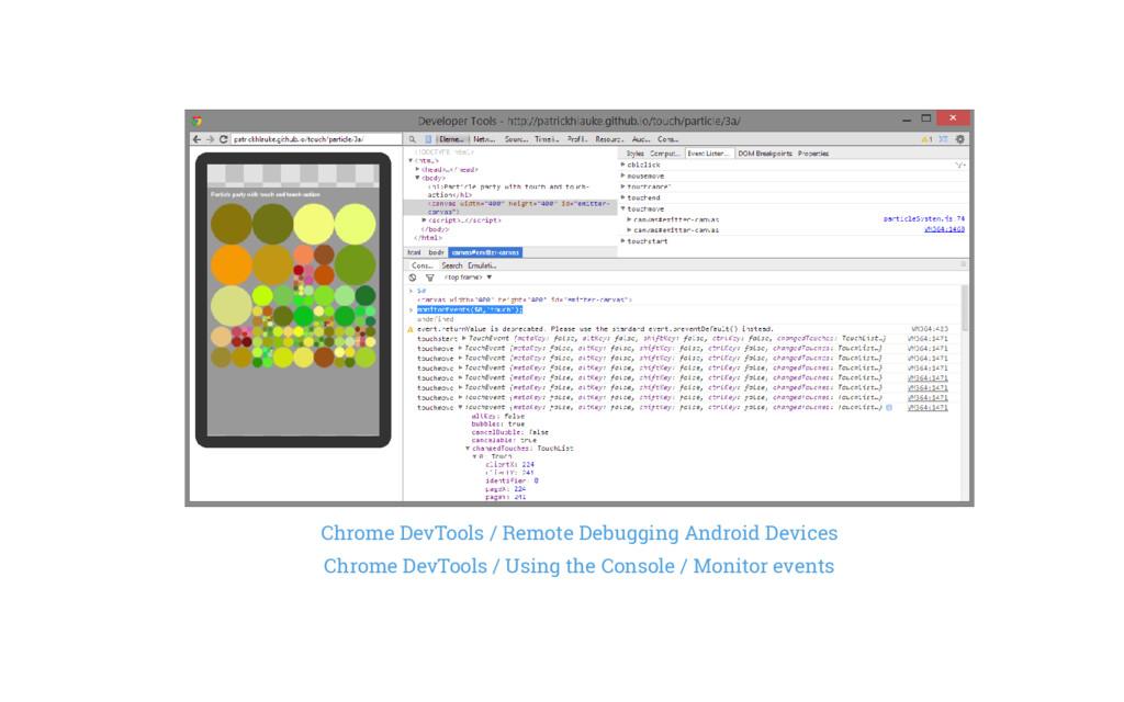 Chrome DevTools / Remote Debugging Android Devi...