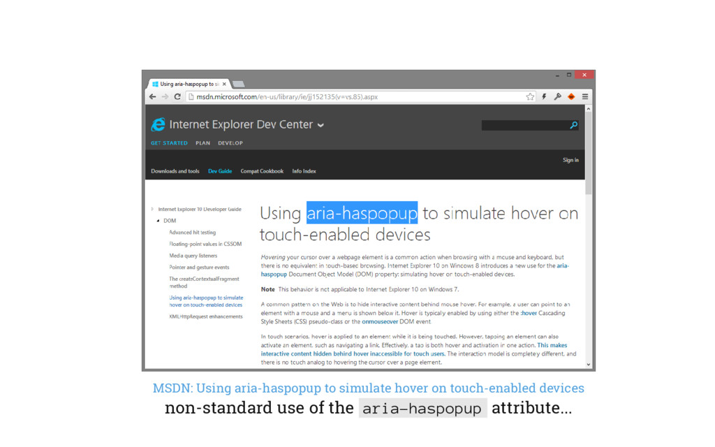 MSDN: Using aria-haspopup to simulate hover on ...