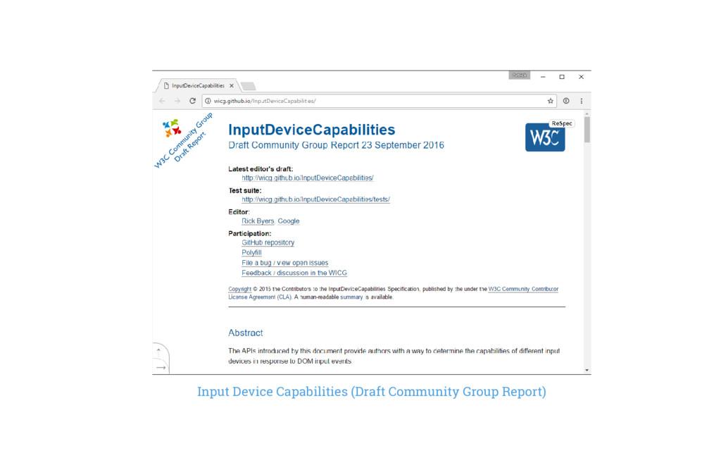 Input Device Capabilities (Draft Community Grou...