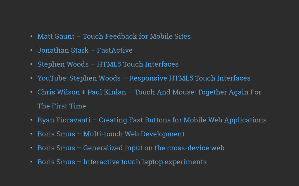 • Matt Gaunt – Touch Feedback for Mobile Sites...