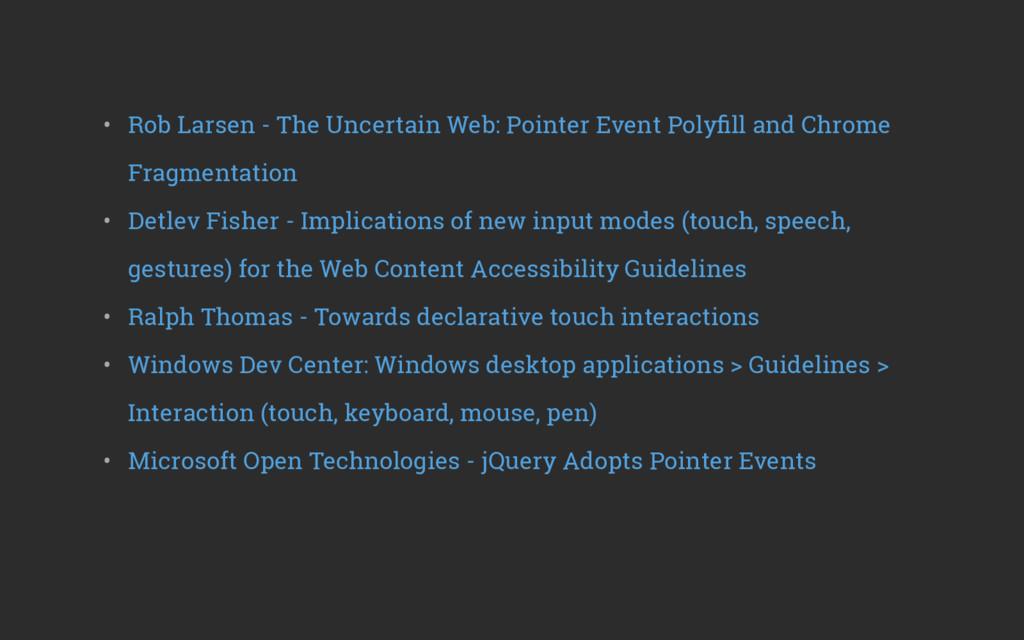 • Rob Larsen - The Uncertain Web: Pointer Even...