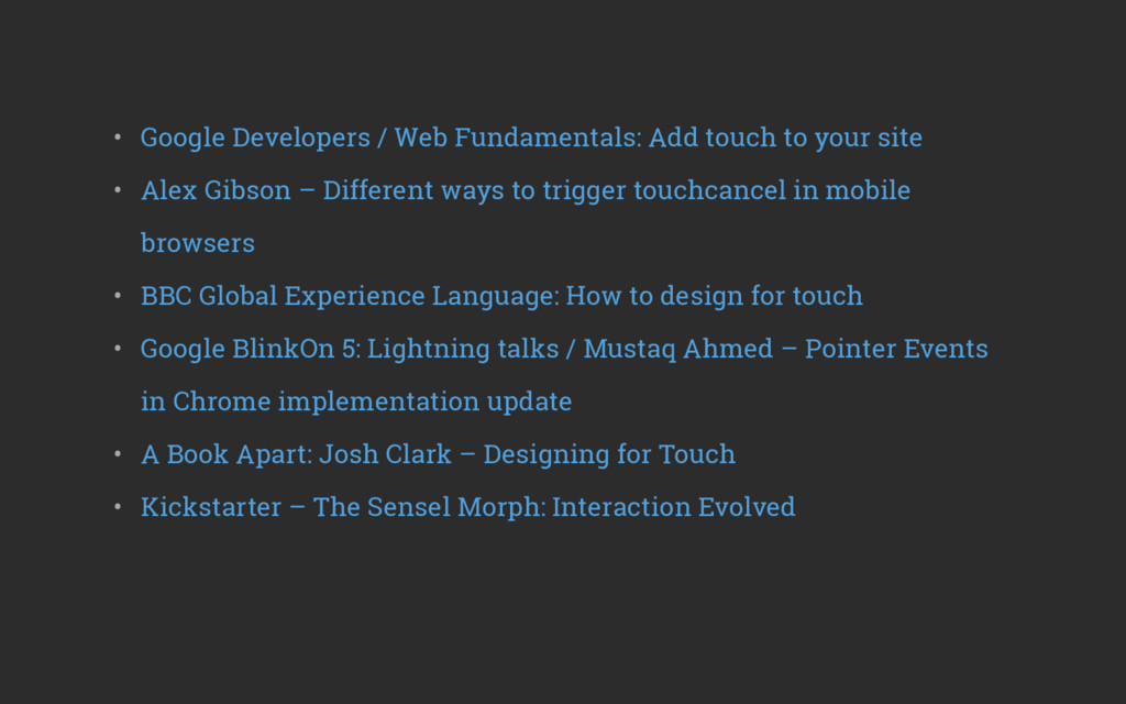 • Google Developers / Web Fundamentals: Add to...