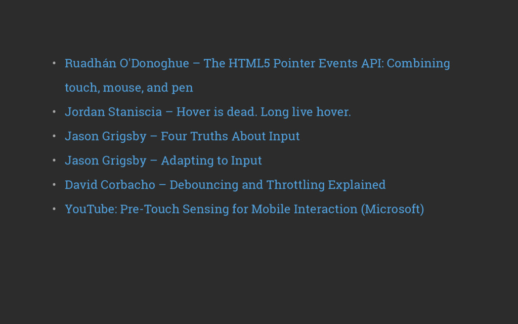 • Ruadhán O'Donoghue – The HTML5 Pointer Event...