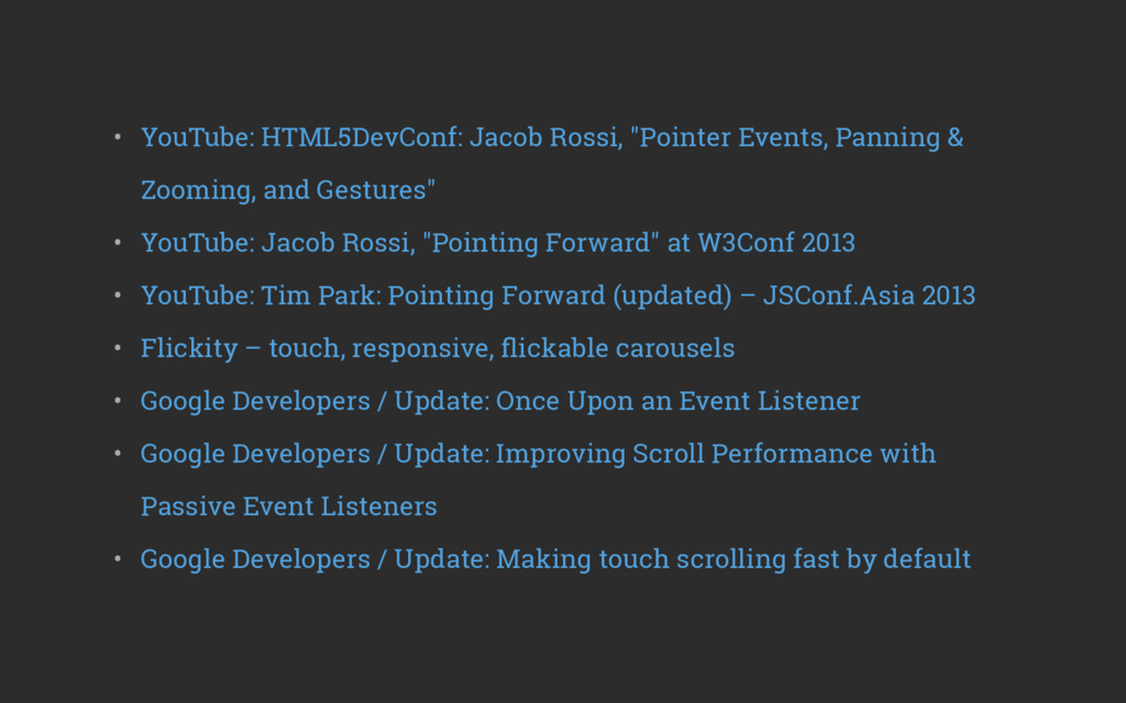 """• YouTube: HTML5DevConf: Jacob Rossi, """"Pointer..."""