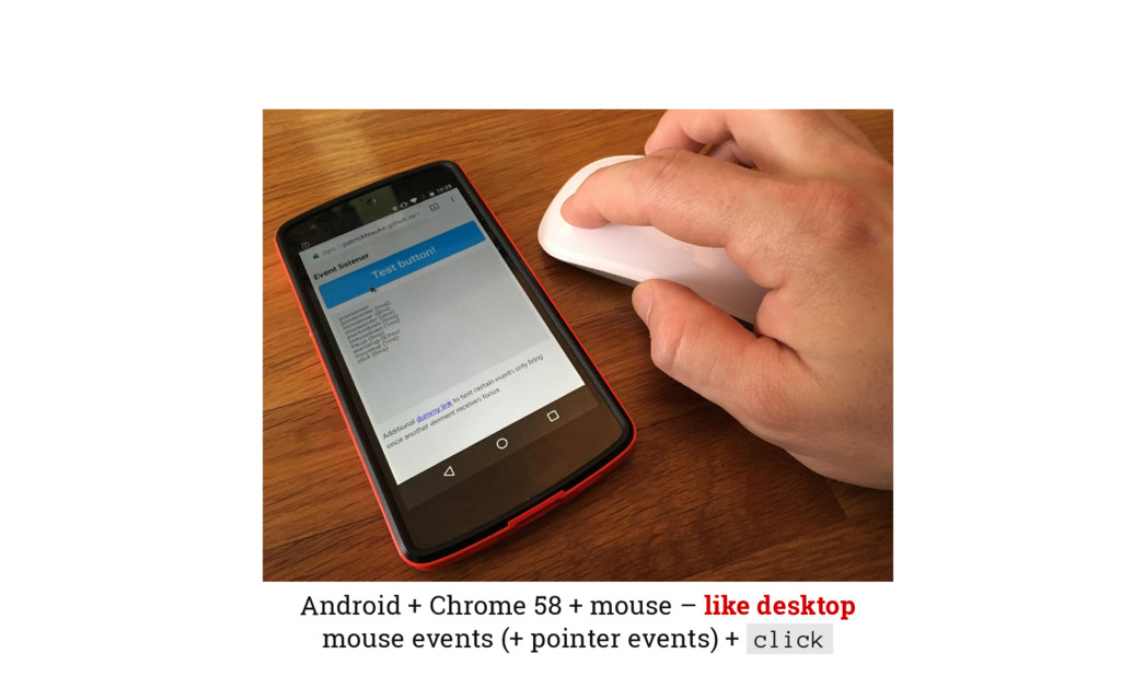 Android + Chrome 58 + mouse – like desktop mous...
