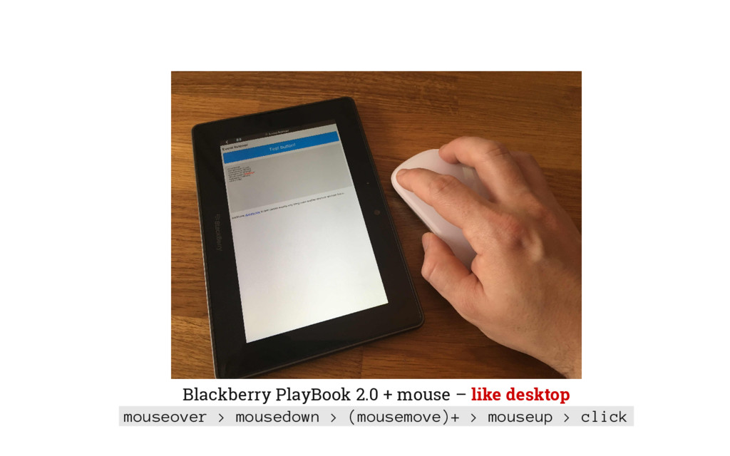 Blackberry PlayBook 2.0 + mouse – like desktop ...