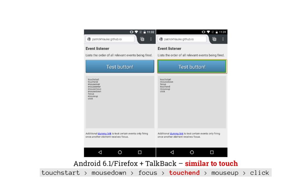 Android 6.1/Firefox + TalkBack – similar to tou...