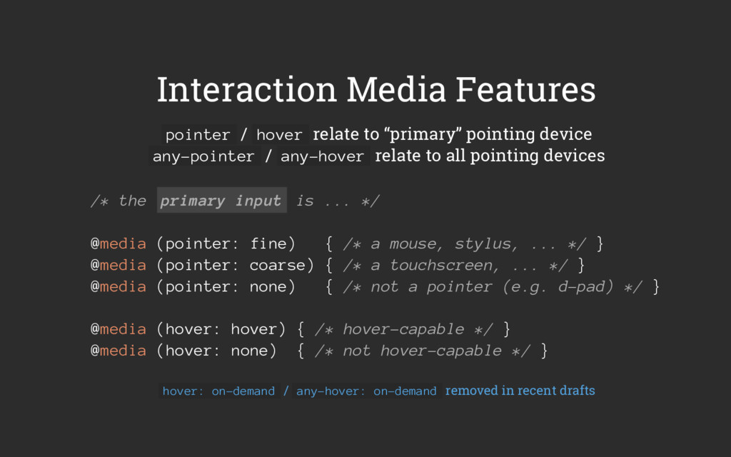 Interaction Media Features pointer / hover rela...