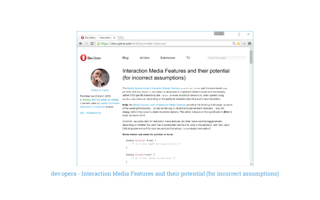 dev.opera - Interaction Media Features and thei...
