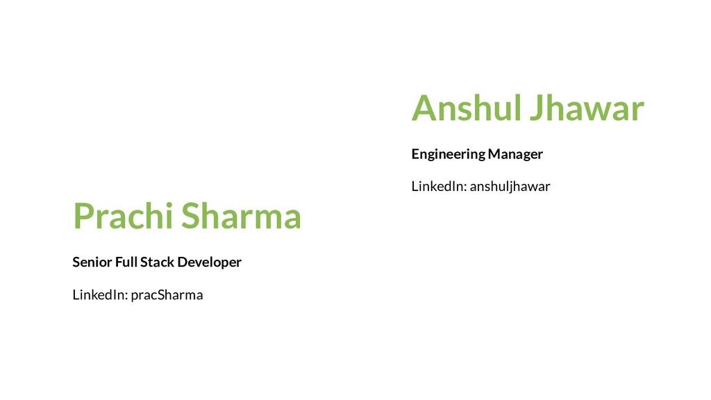 Anshul Jhawar Engineering Manager LinkedIn: ans...