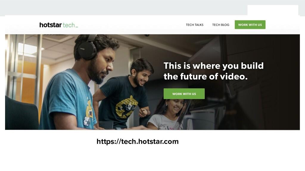 https://tech.hotstar.com