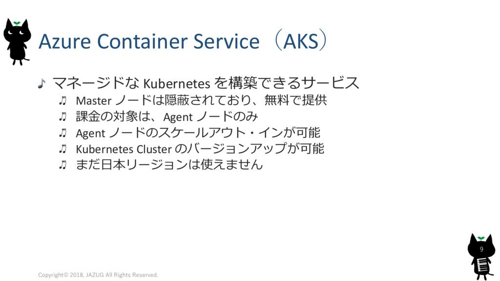 Azure Container ServiceAKS &!  Kubernetes ...