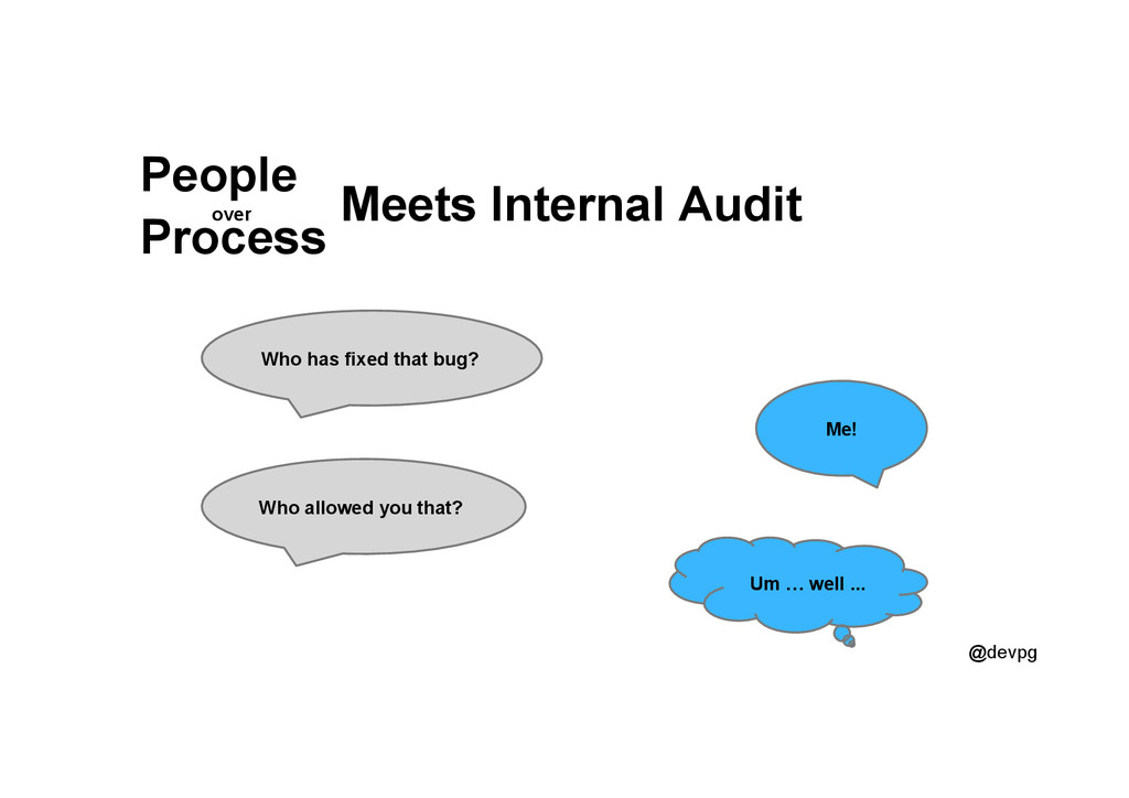@devpg Meets Internal Audit People Process over...