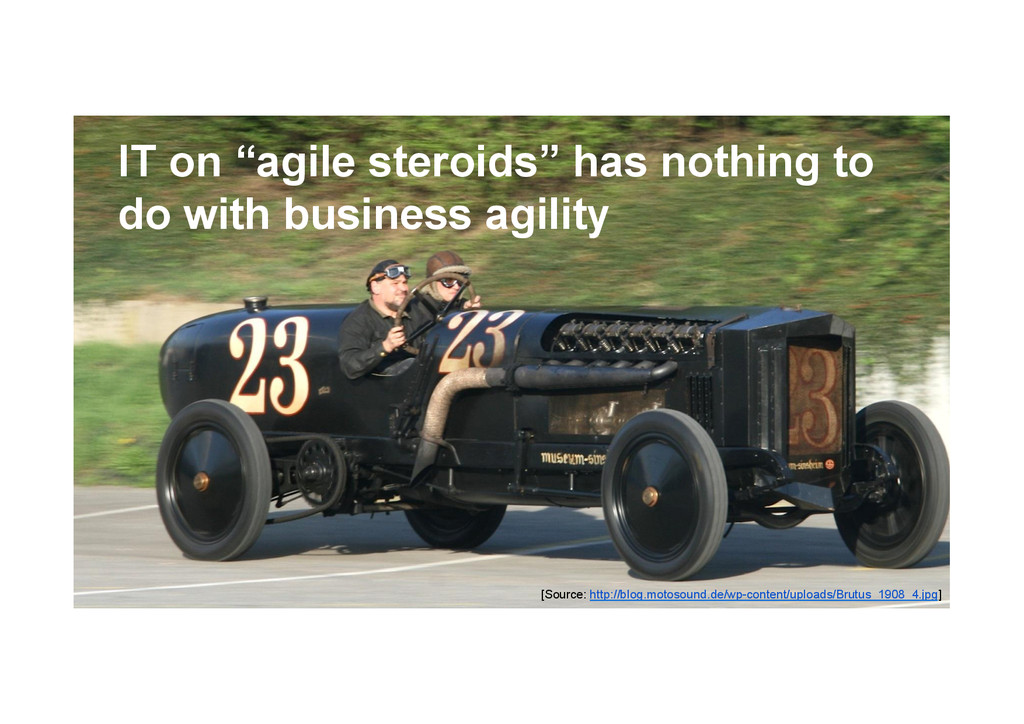 "@devpg IT on ""agile steroids"" has nothing to do..."