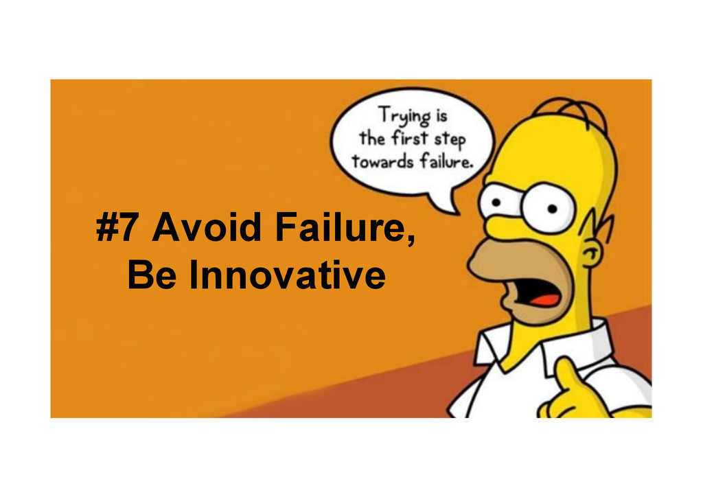 @devpg #7 Avoid Failure, Be Innovative
