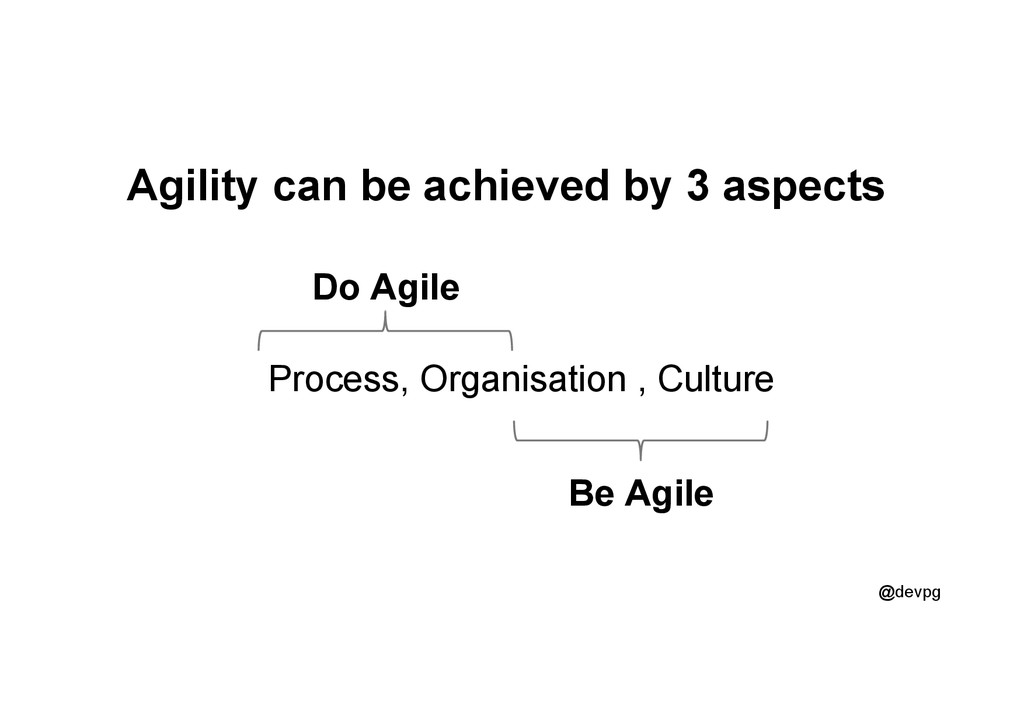 @devpg Agility can be achieved by 3 aspects Pro...