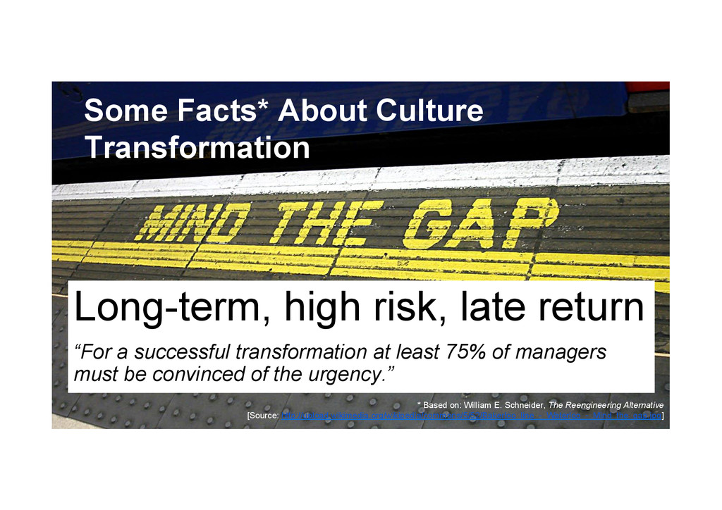 @devpg Some Facts* About Culture Transformation...