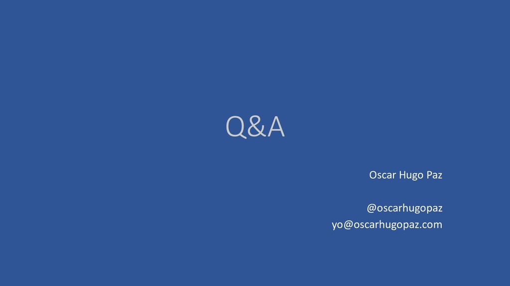 Q&A Oscar Hugo Paz @oscarhugopaz yo@oscarhugopa...