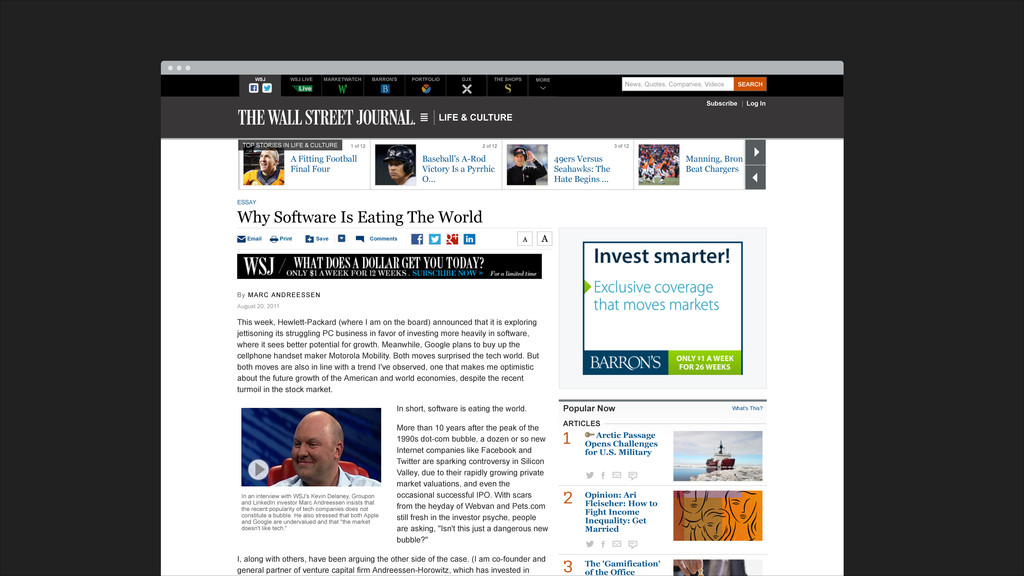 LIFE & CULTURE Subscribe Log In WSJ WSJ LIVE MA...