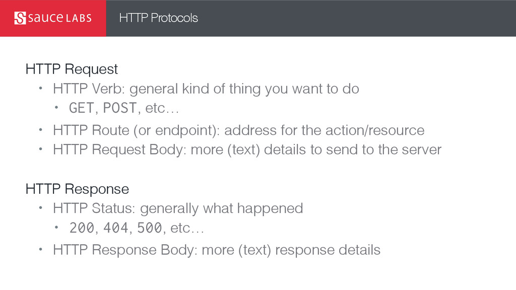 HTTP Protocols HTTP Request • HTTP Verb: genera...