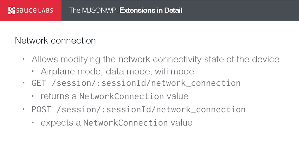 The MJSONWP: Extensions in Detail Network conne...