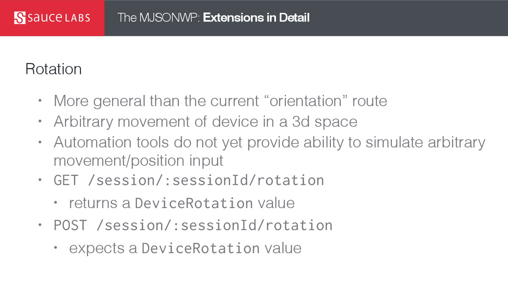 The MJSONWP: Extensions in Detail Rotation • Mo...