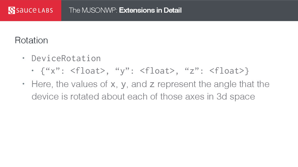 The MJSONWP: Extensions in Detail Rotation • De...