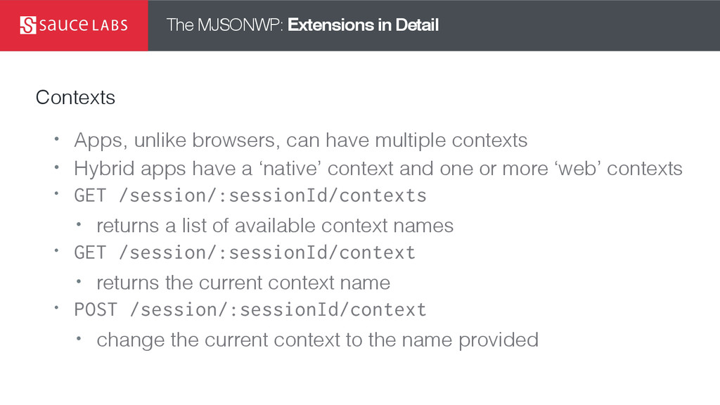 The MJSONWP: Extensions in Detail Contexts • Ap...