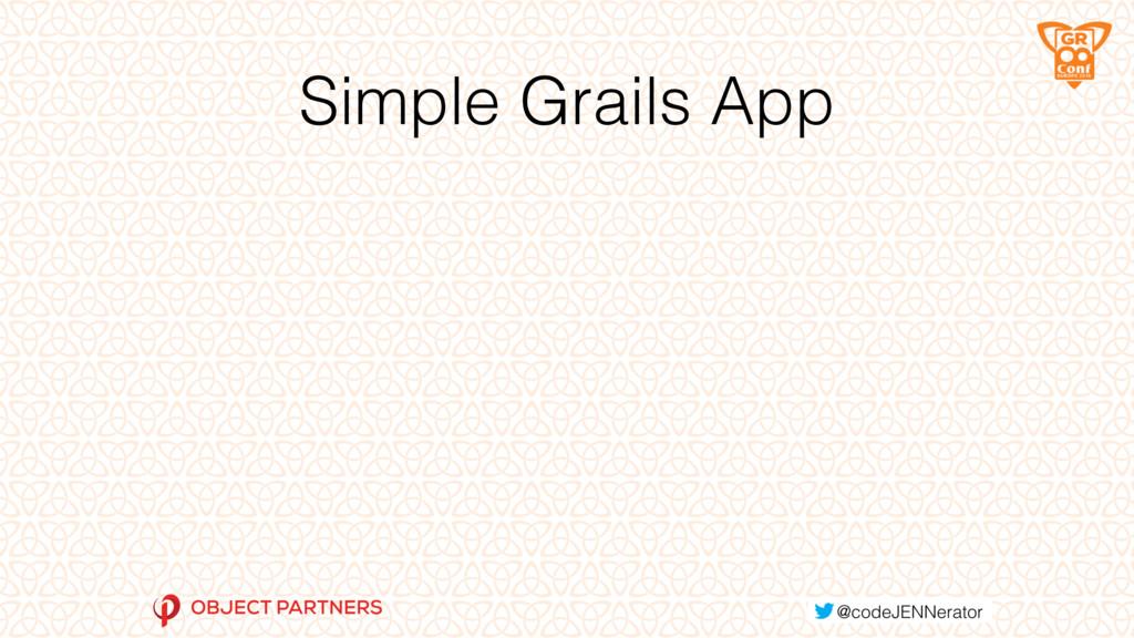 Simple Grails App