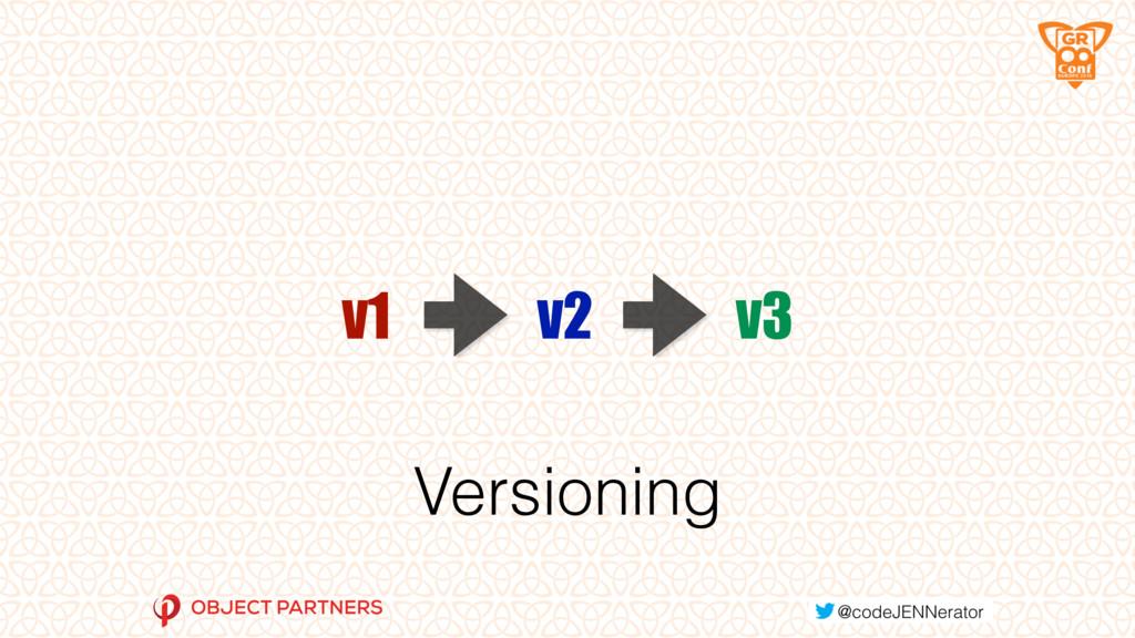 Versioning v1 v2 v3