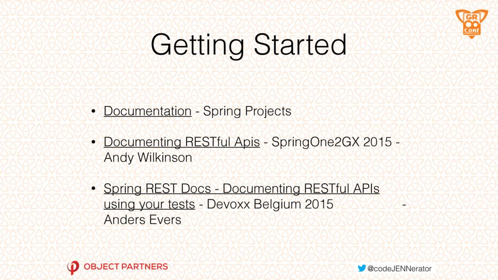 Getting Started • Documentation - Spring Projec...
