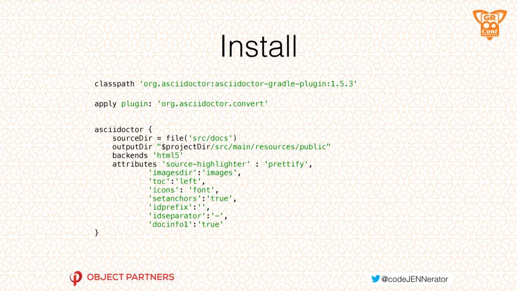 Install classpath 'org.asciidoctor:asciidoctor-...