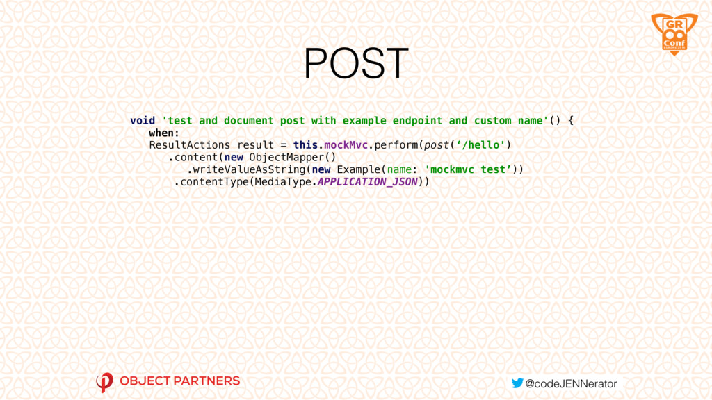 POST void 'test and document post with example ...