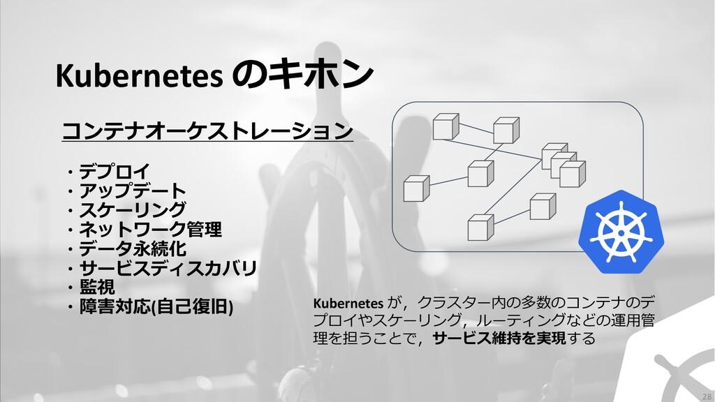 Kubernetes のキホン コンテナオーケストレーション ・デプロイ ・アップデート ・ス...