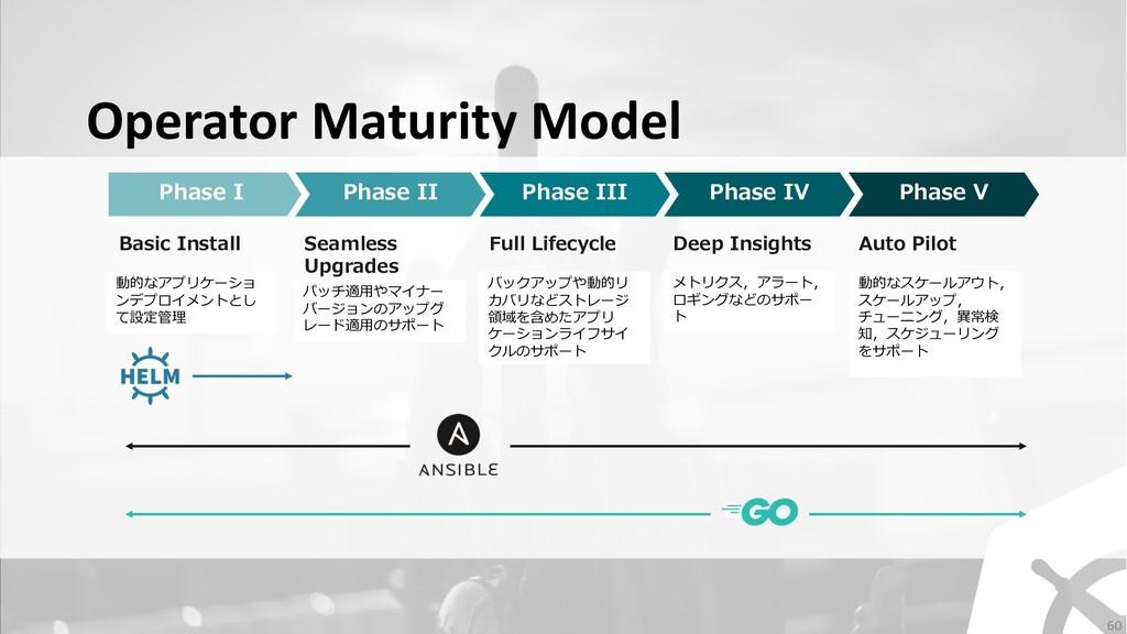 Operator Maturity Model Phase I Phase II Phase ...