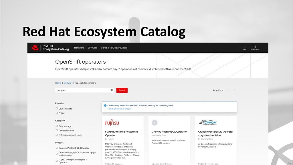 Red Hat Ecosystem Catalog 62