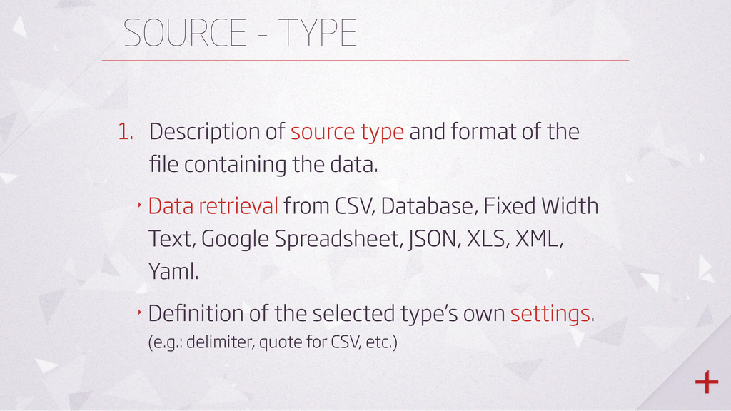 SOURCE - TYPE 1. Description of source type and...