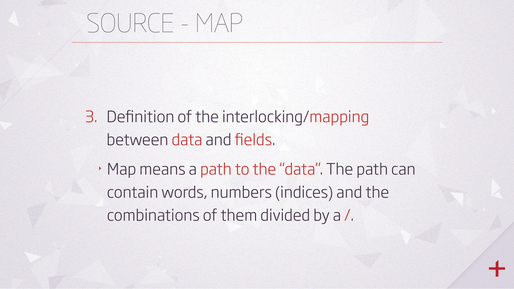 SOURCE - MAP 3. Definition of the interlocking/m...