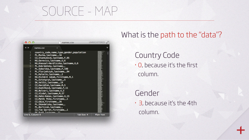 """SOURCE - MAP What is the path to the """"data""""? Co..."""