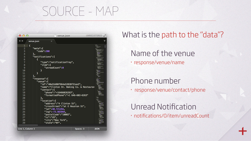 """SOURCE - MAP What is the path to the """"data""""? Na..."""