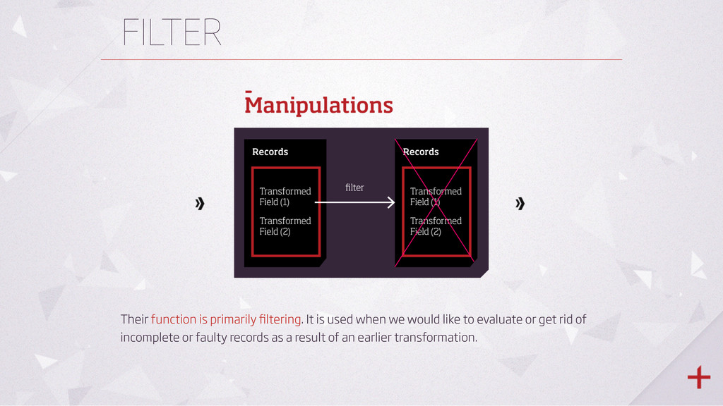 FILTER Their function is primarily filtering. It...